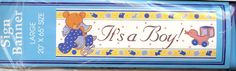 """It's a Boy! Sign Banner 20"""" by 65"""" in Wascopete's Garage Sale in Tooele , UT for $4."""