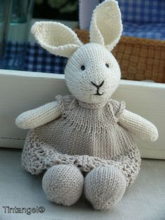 Trendy Knitting Baby Patterns Little Cotton Rabbits Ideas Knitted Stuffed Animals, Knitted Bunnies, Knitted Animals, Knitted Dolls, Crochet Toys, Teddy Bear Knitting Pattern, Animal Knitting Patterns, Baby Patterns, Little Cotton Rabbits