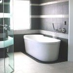Contras Black and Gray Bathroom Tile Ideas