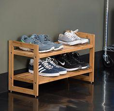 55 Genius Shoes Rack Design Ideas – Home Design Shoe Rack Closet, Diy Shoe Rack, Shoe Storage Design, Rack Design, Shoe Rack Furniture, Wood Furniture, Furniture Storage, Shoe Rack With Shelf, Wooden Shoe Racks