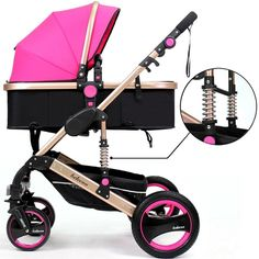 Gold Baby Brand Baby Stroller 3 in 1 with Car Safety Seat,Baby Carriage Prams European Strollers Used Strollers, Double Strollers, Baby Strollers, Baby Jogger Stroller, Single Stroller, Baby Prams, After Baby, Baby Carriage, Baby Shower