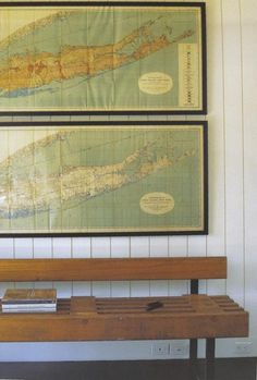 nautical maps as decor - remodelista.com
