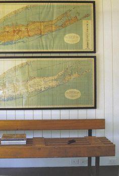 nautical maps as decor - remodelista.com