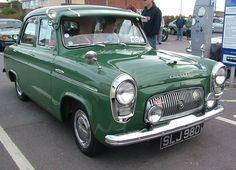 1955 Ford Prefect SLJ 980 Classic Cars British, British Sports Cars, Ford Classic Cars, Classic Trucks, British Car, Vintage Cars, Antique Cars, Old Lorries, Dog Stroller