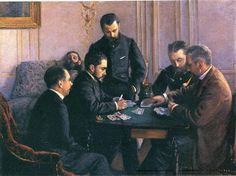 Gustave Caillebotte (French, 1848-1894) : Game of Bezique, 1880. Museé d'Orsay, Paris.