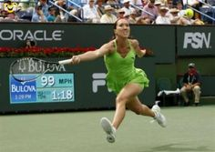 funny pictures - You can do it just use all your abilities #tennis #ace #lawn #unseeded #service #break #girl #power #amusing #joke #funny - Funomenia