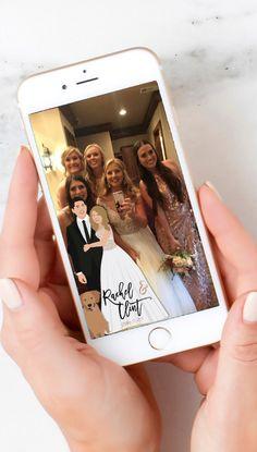 Wedding Snapchat Geotag Filter Design - Couple Portrait Design