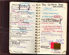"""india hicks' answer to the question """"how do you stay organized"""" on design sponge... makes me want to get a planner and some pretty writing tools. and be better organized."""