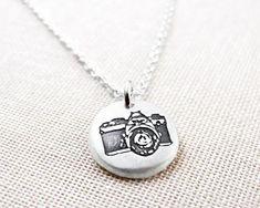 Tiny Camera necklace camera jewelry vintage by lulubugjewelry