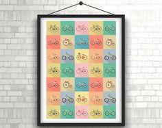 Pôster A4 - Bicicletas