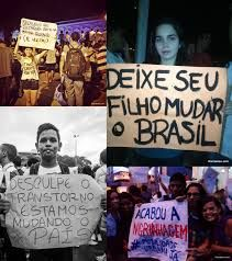 """""""Let your child change Brazil. Sorry for the inconvenience. Brazil We are changing!"""" Brazilian Spring. Vem Pra Rua!"""