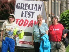 The 3 musketeers having fun at a Greek Fest In Wauwatosa.