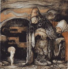 Anjas' Theme Of The Week: Swedish week 3: Beautiful illustrations by John Bauer > 'The changeling'