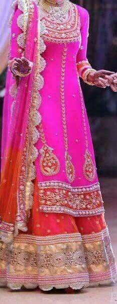 get this beautiful suit beautiful colour combination and embroidery… Indian Wedding Outfits, Pakistani Outfits, Bridal Outfits, Bridal Dresses, Indian Weddings, Romantic Weddings, Punjabi Wedding Suit, Wedding Salwar Suits, Punjabi Suits