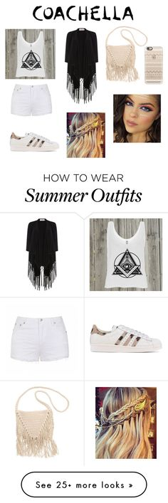 """Coachella"" by stephanie-anne-thompson on Polyvore featuring Casetify, Ally Fashion, adidas Originals, Soaked in Luxury and Billabong"