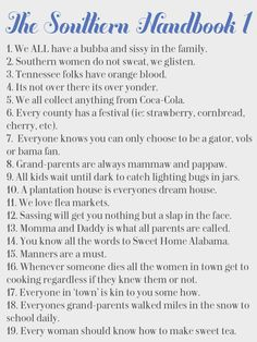The Southern Handbook - Purely Southern www.getpurelysouthern.com