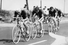 Passaggio Quartetto Olimpico 100 Km. Cronosquadre - Roma 1960