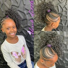 Lil girl hairstyles, cute hairstyles for kids, kids braided Up Hairdos, Lil Girl Hairstyles, Black Kids Hairstyles, Girls Natural Hairstyles, Kids Braided Hairstyles, Medium Hairstyles, Hairstyles Videos, Hairstyles Haircuts, Fashion Hairstyles