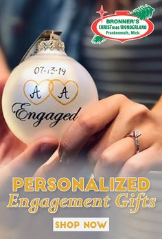 Personalized Engagement Gift, Bride and Groom Gifts, Wedding , Engaged? Know someone who recently was engaged? Commemorate this big occasion with a personalized ornament! What a great gift to give the bride and groom to be. Wedding Gifts For Groom, Bride And Groom Gifts, Personalized Ornaments, Personalized Gifts, Personalized Engagement Gifts, Christmas Wonderland, Christmas Bulbs, Great Gifts, Big