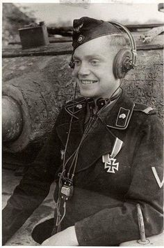 Image result for german tank commander with headphones