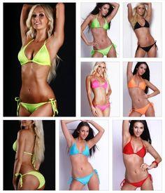 Triangeltop Slip Gerafft zum Binden (Gefüttert) Bikini-Sets, Neckholder, Slips