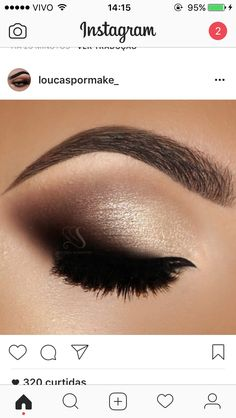 Smoked out wing looks amazing instead of a harsh line Makeup 101, Makeup Goals, Love Makeup, Makeup Inspo, Makeup Inspiration, Beauty Makeup, Makeup Ideas, Beauty Tips, Glitter Eye Makeup