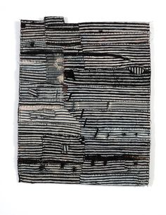Matthew Harris' cloth fragments. Dyed, cut and hand stitched cloth