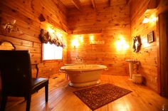 Log Cabin Interior Bathroom Photo Gallery | Log Cabin Bathroom - Country Homes