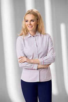 senso KOSZULA DAMSKA Model  DWBD/S418-A0-N241  Koszula damska senso; kolorowy nadruk w kwiatuszki; długi rękaw. 100% bawełna.