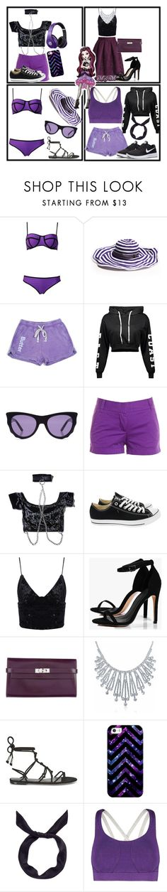 """""""Raven Queen"""" by cartoonsme ❤ liked on Polyvore featuring Missoni Mare, Butter, Ksubi, J.Crew, Current Mood, Beats by Dr. Dre, Converse, Boohoo, Hermès and Bling Jewelry"""
