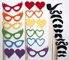 Photo Booth Props - Party Props - 24 Piece