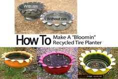 """How To Make A """"Bloomin"""" Recycled Tire Planter"""