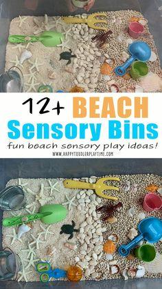 Kids Beach Activities, Sensory Activities Toddlers, Sensory Play, Sensory Tubs, Classroom Activities, Toddler Play, Toddler Preschool, Swimmy Leo Lionni, Sensory Boxes