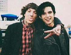 Oliver Sykes from Bring Me The Horizon and Andy Black from Black Veil Brides