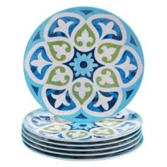 Certified International Barcelona by Jennifer Brinley 6-pc. Melamine Salad Plate Set