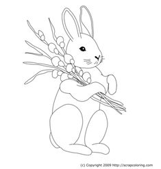 bunny - embroidery pattern