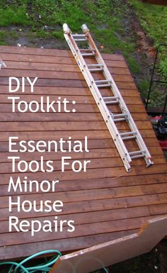 DIY Toolkit: Essential Tools For Minor House Repairs http://www.anchoragehousesales.com/miarticles/articleid/119/ #DIY #toolkit #homeimprovement #homerepairs