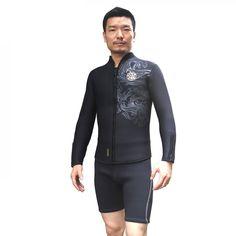 Surfing Surfer Slacker T-shirt Neoprene Wetsuit Long Sleeve Jacket only  Surfing Scuba Diving Shirt Wetsuits Spearfishing Swimming Top Keep Warm  Swimwear 032e22330