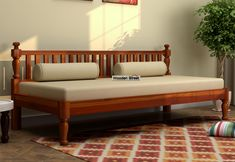 Buy Tauras Divan Online in India – Wooden Street – Wooden Sofa Designs Bed Furniture, Home Decor Furniture, Home Decor Bedroom, Furniture Design, Indian Furniture, Vintage Furniture, Living Room Sofa Design, Living Room Designs, Wooden Sofa Set Designs