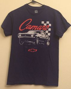 SOLD Camaro GM Brand Classic Car Navy Blue T shirt 1990s by MY2NDJOB  SOLD