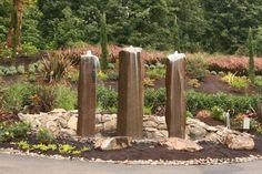 """24"""" diameter basalt fountains."""