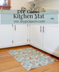 DIY Kitchen Mat by diypassion.com
