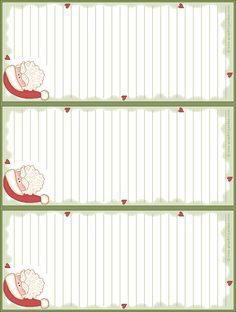 Can be used as cute to-do lists, wish lists, shopping lists etc. Christmas Note, Christmas Journal, Christmas Paper, Printable Lined Paper, Printable Crafts, Free Printables, Christmas Stationery, Christmas Crafts For Gifts, Free Christmas Printables