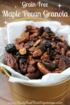 Maple Pecan Grain-Free Granola
