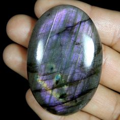 120.00Cts 100% NATURAL PURPLE FLASHING LABRADORITE OVAL CABOCHON LOOSE GEMSTONE