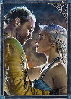 """Dany and Jorah """"They are not mine to sell"""" by DavidDeb.deviantart.com on @deviantART"""