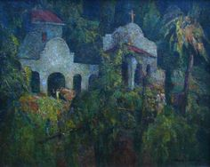 Deep, rich colors in The Wedding at Mill Valley by Francis Todhunter, 24x30 Oil Painting