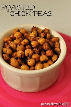 Roasted Chick Peas. A simple, healthy, and tasty snack. {Persnickety Plates}