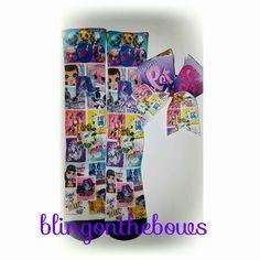 Littlestpetshop socks and bow set Www.blingonthebows.com  #cheerbows #blingonthebows #cheerleader #bows #cheerleading #fiercecheerbows #cheergear #allglitterbows #teambows #customsocks