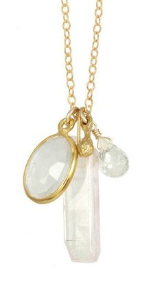 For the bridesmaids: Three Stone Charm Necklace.
